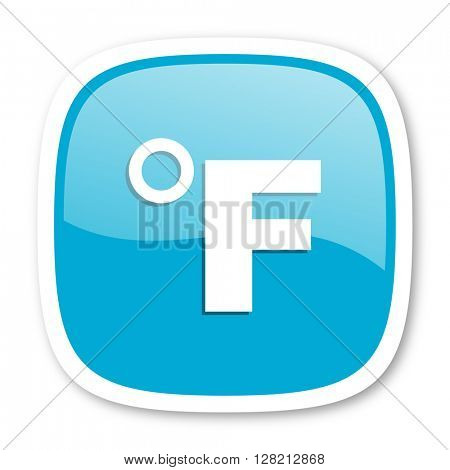 fahrenheit blue glossy icon