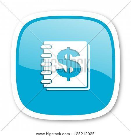 money blue glossy icon