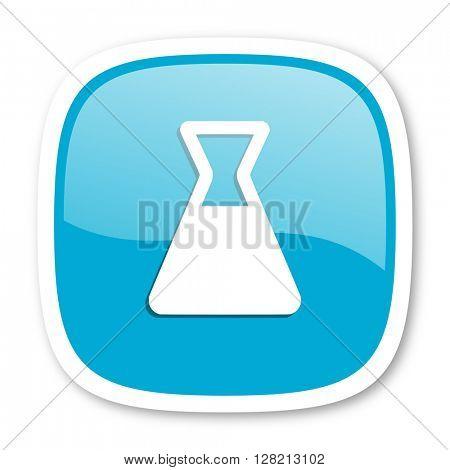 laboratory blue glossy icon