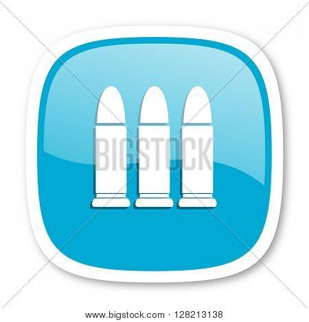 ammunition blue glossy icon