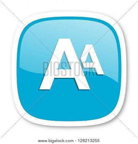 alphabet blue glossy icon