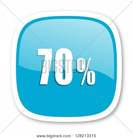 70 percent blue glossy icon