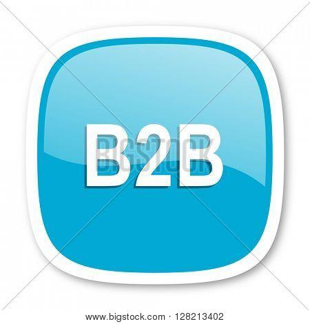 b2b blue glossy icon