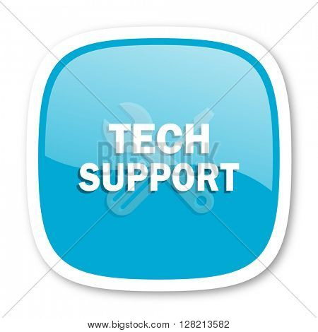 technical support blue glossy icon