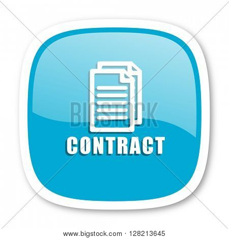 contract blue glossy icon