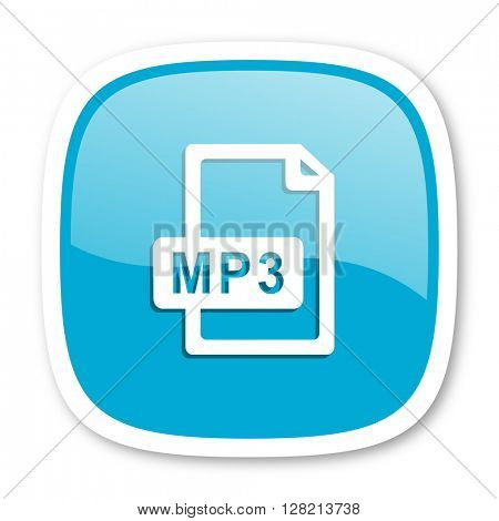 mp3 file blue glossy icon