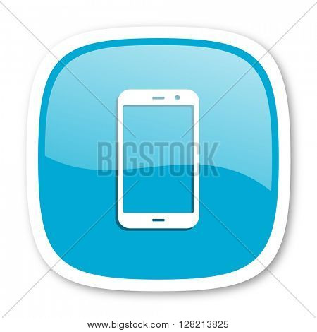 smartphone blue glossy icon
