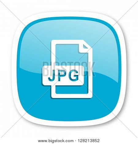 jpg file blue glossy icon