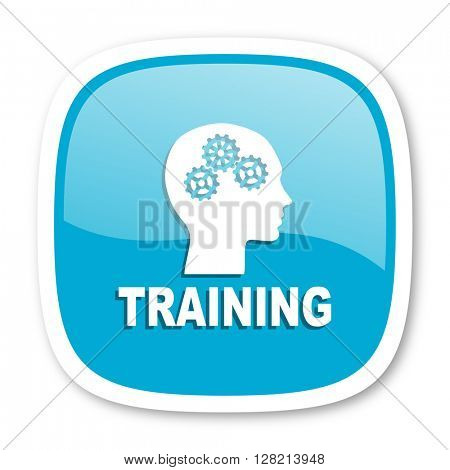 training blue glossy icon