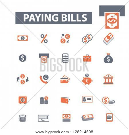 paying bills icons