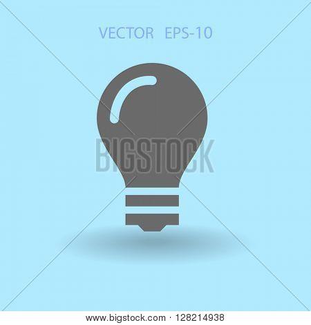 Flat icon of bulb