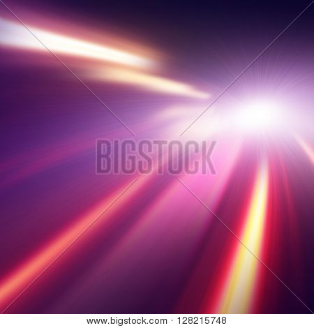 Abstract image of night lights with motion blur.
