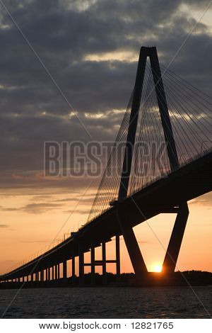 Cooper River Bridge in Charleston, South Carolina.