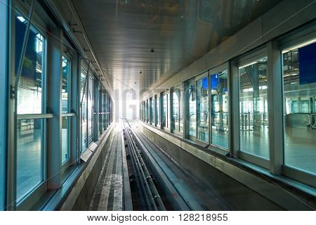 FRANKFURT, GERMANY - MARCH 13, 2016: view of Frankfurt Airport. Frankfurt Airport is a major international airport located in Frankfurt and the major hub for Lufthansa
