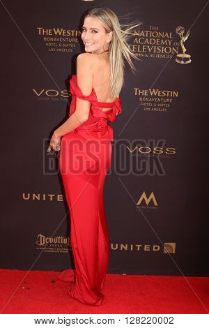 LOS ANGELES - MAY 1:  Renee Bargh at the 43rd Daytime Emmy Awards at the Westin Bonaventure Hotel  on May 1, 2016 in Los Angeles, CA