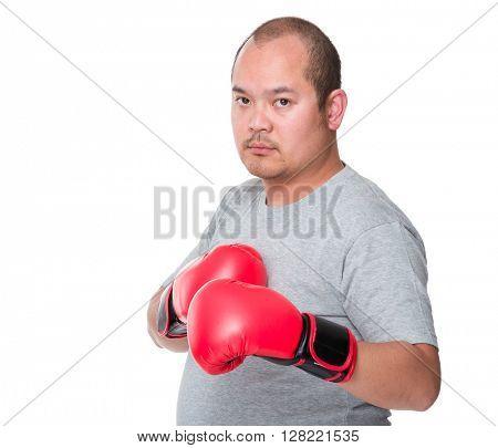 man punching towards camera