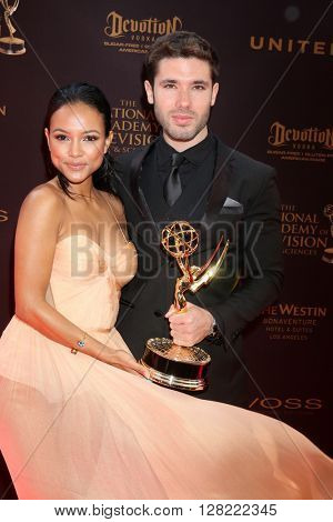 LOS ANGELES - MAY 1:  Karrueche Tran, Kristos Andrews at the 43rd Daytime Emmy Awards at the Westin Bonaventure Hotel  on May 1, 2016 in Los Angeles, CA