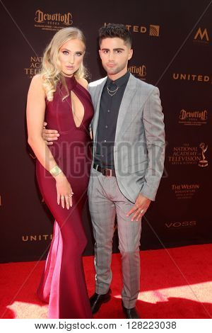 LOS ANGELES - MAY 1:  Veronica Dunne, Max Ehrich at the 43rd Daytime Emmy Awards at the Westin Bonaventure Hotel  on May 1, 2016 in Los Angeles, CA