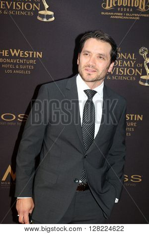 LOS ANGELES - MAY 1:  Dominic Zamprogna at the 43rd Daytime Emmy Awards at the Westin Bonaventure Hotel  on May 1, 2016 in Los Angeles, CA