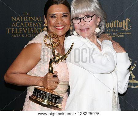 LOS ANGELES - MAY 1:  Sonia Manzano, Rita Moreno at the 43rd Daytime Emmy Awards at the Westin Bonaventure Hotel  on May 1, 2016 in Los Angeles, CA
