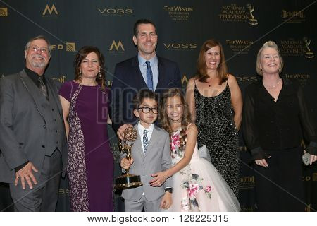LOS ANGELES - MAY 1:  General Hospital Producers, Frank Valentini, Brooklyn Rae Silzer, Nicolas Bechtel at the Daytime Emmy Awards at the Westin Bonaventure Hotel  on May 1, 2016 in Los Angeles, CA