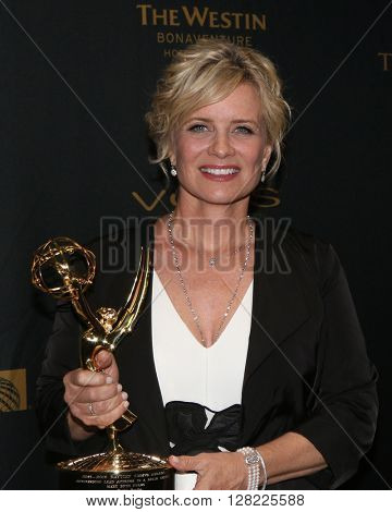 LOS ANGELES - MAY 1:  Mary Beth Evans at the 43rd Daytime Emmy Awards at the Westin Bonaventure Hotel  on May 1, 2016 in Los Angeles, CA