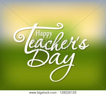 Happy Teachers Day greeting card. Teachers Day vector illustration