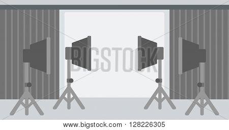 Background of empty photo studio.
