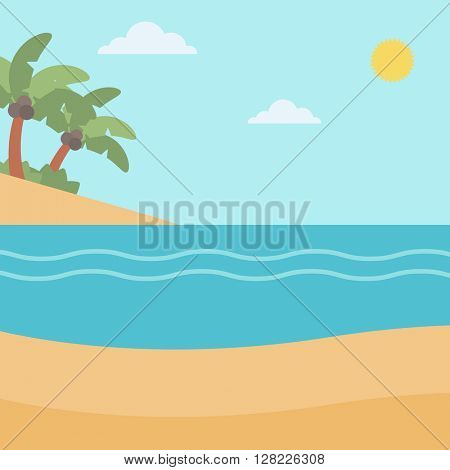 Background of tropical beach and sea.