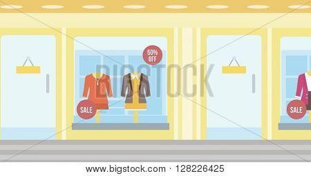 Background of boutique window.