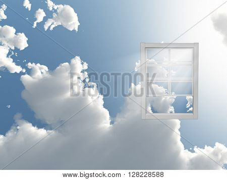 Window in sky 3D Render