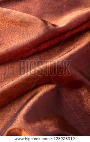 Abstract red soft chiffon texture or background