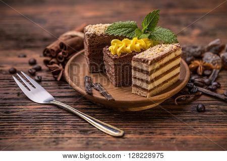 Chocolate And Coffee Layer Cake