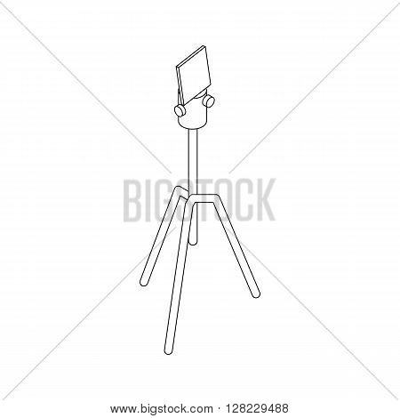 Tripod icon in isometric 3d style on a white background