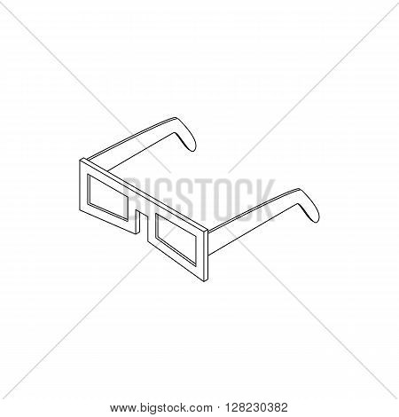 3D glasses icon in isometric 3d style on a white background