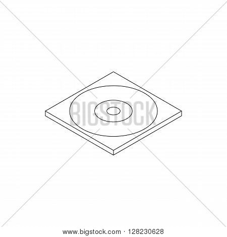 Blank compact disc in a case icon in isometric 3d style on a white background