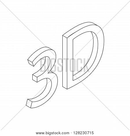 3d icon in isometric 3d style on a white background