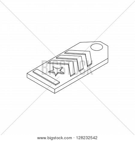 Shoulder strap icon in isometric 3d style on a white background