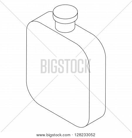 Flask icon in isometric 3d style on a white background