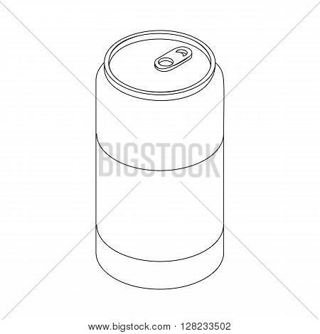 Beer can icon in isometric 3d style on a white background
