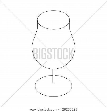 Wineglass icon in isometric 3d style on a white background