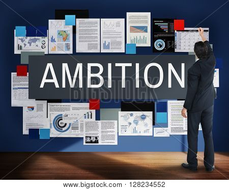 Ambition Aspiration Business Vision Goals Concept