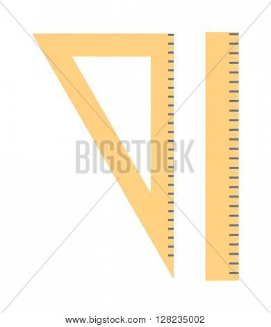 Ruler tool flat icon vector