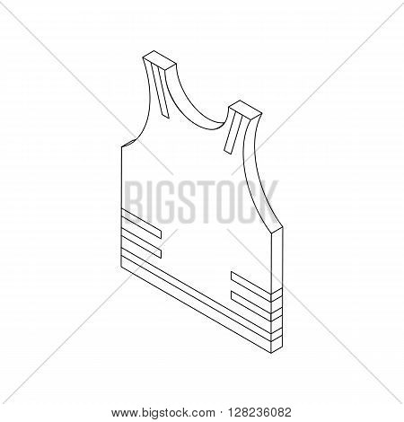 Paintball protective vest icon in isometric 3d style isolated on white background