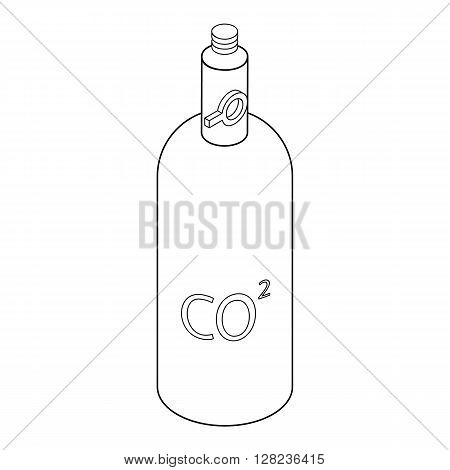 Gas hand grenade icon in isometric 3d style isolated on white background
