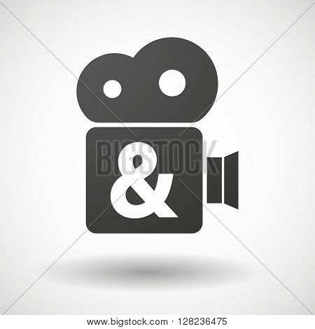 Isolated Cinema Camera Icon With An Ampersand