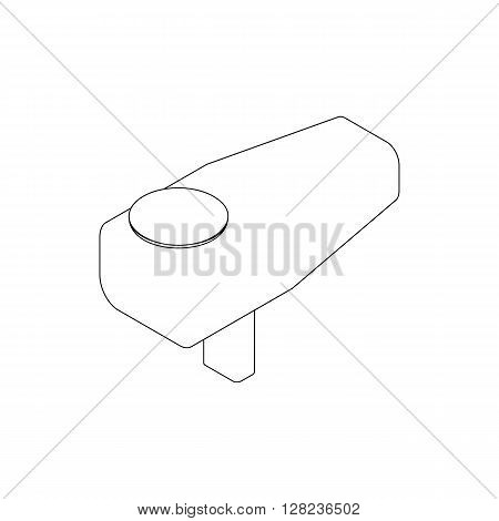 Feeder of paintball gun icon in isometric 3d style isolated on white background