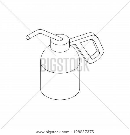 Dioxide bottle for paintball icon in isometric 3d style isolated on white background