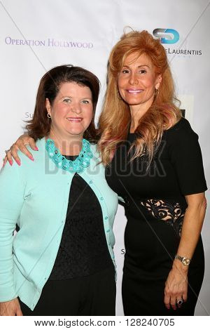 LOS ANGELES - APR 30:  Denise Miller, Suzanne DeLaurentiis at the Suzanne DeLaurentiis Productions Gifting Suite at the Dylan Keith Salon on April 30, 2016 in Burbank, CA
