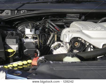Car Engine Bay.